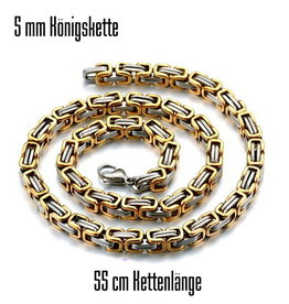 5 mm Königskette gold-silber