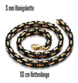 5 mm Königskette schwarz-gold