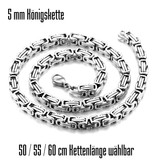 5 mm silberfärbige Königskette - 3 Längen wählbar
