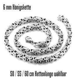6 mm Königskette  silberfärbig