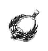 Schwarze Damen Halskette mit Totenkopf