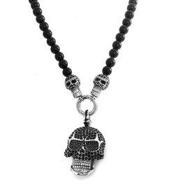 Totenkopf Halskette Edelstahl