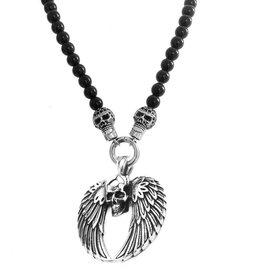 Damen Halskette Skull mit Flügel