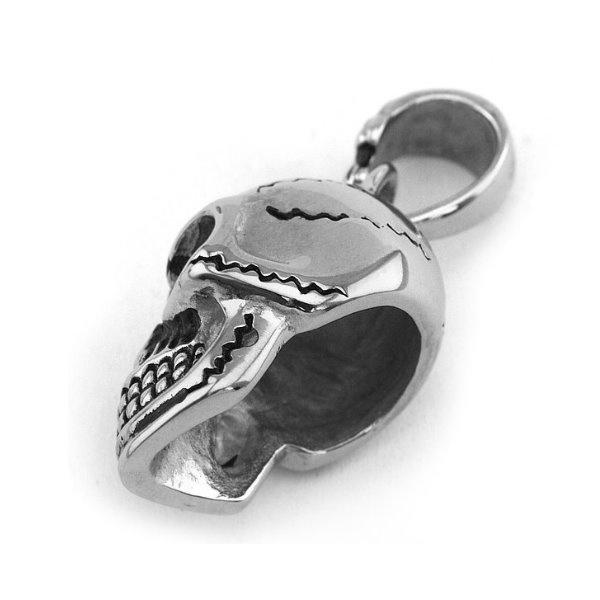 Bikerkette schwarz mit Totenkopfanhänger