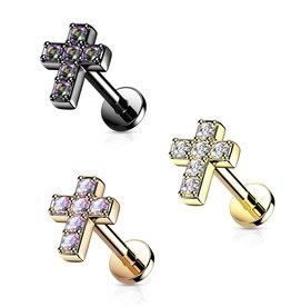 Tragusstecker Kreuz