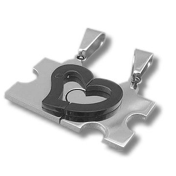 Partnerkette mit Herz - Puzzleteil