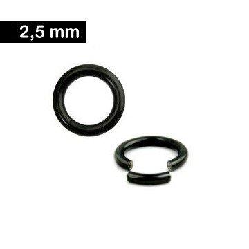 2,5 mm Segmentring - schwarz