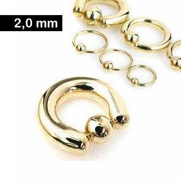 Goldfärbiger BCR Ring