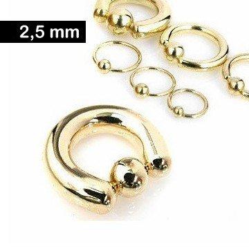 2,5 mm Piercingring goldfärbig