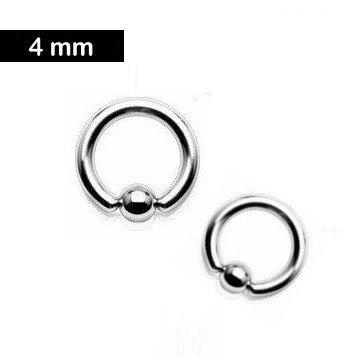 4 mm Piercingring - 3 Größen