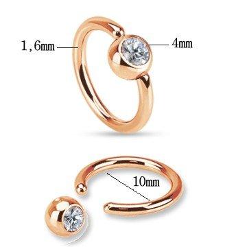 BCR-Ring 1,6 x 10 mm mit Stein
