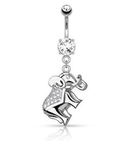 Bauchnabelpiercing Elefant