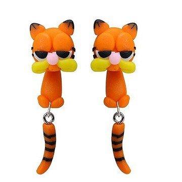 3D Ohrstecker Katze - 1 Paar