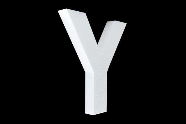 Blanco letter Y