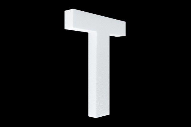 Blanco letter T