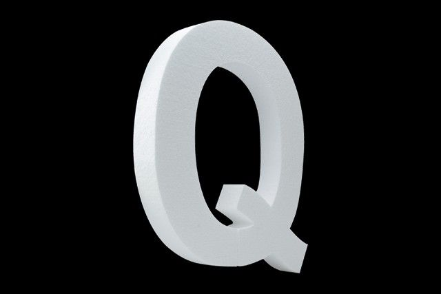 Blanco letter Q