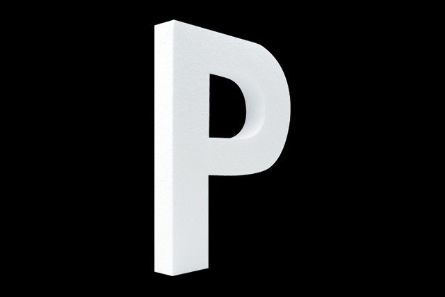 Blanco letter P