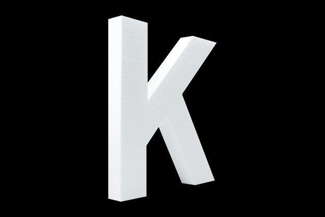 Blanco letter K