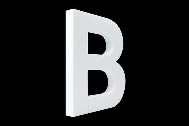 Blanco letter B