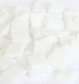 Glas-mozaieksteentjes 1x1 cm ca. 200 stuks Wit
