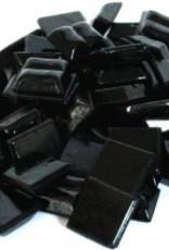 Glas-mozaieksteentjes 1x1 cm ca. 200 stuks Zwart