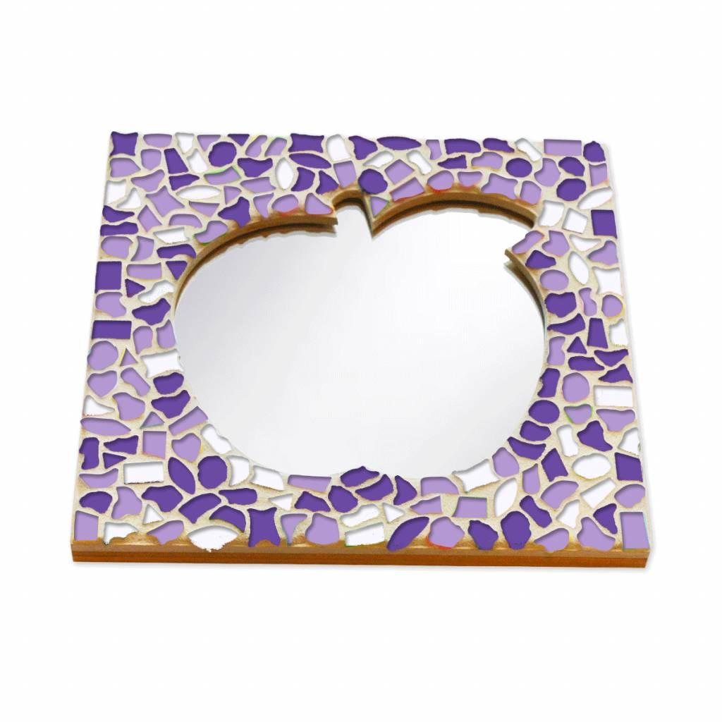 Mozaiek pakket Spiegel DeLuxe Appel Wit-Paars-Violet