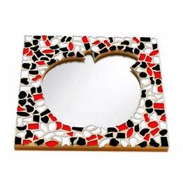 Mozaiek pakket Spiegel DeLuxe Appel Rood-Zwart-Wit
