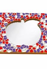 Mozaiek pakket Spiegel DeLuxe Appel Rood-Wit-Paars