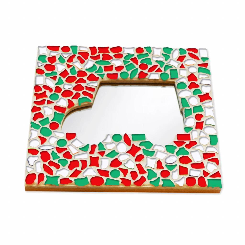 Mozaiek pakket Spiegel DeLuxe Auto Kerst