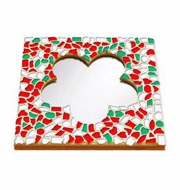Mozaiek pakket Spiegel DeLuxe Bloem Kerst