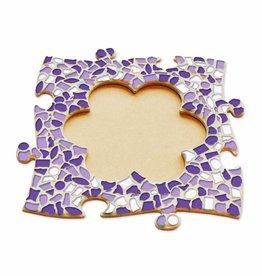 Mozaiek pakket Fotolijst Bloem Wit-Paars-Violet