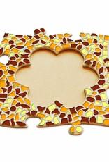 Fotolijst Bloem Bruin-Oranje-Geel