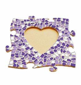 Mozaiek pakket Fotolijst Hart Wit-Paars-Violet