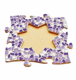 Mozaiek pakket Fotolijst Ster Wit-Paars-Violet