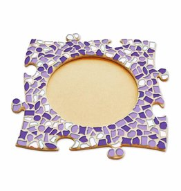 Mozaiek pakket Fotolijst Cirkel Wit-Paars-Violet
