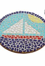 Mozaiekpakket Wandbord Zeilboot