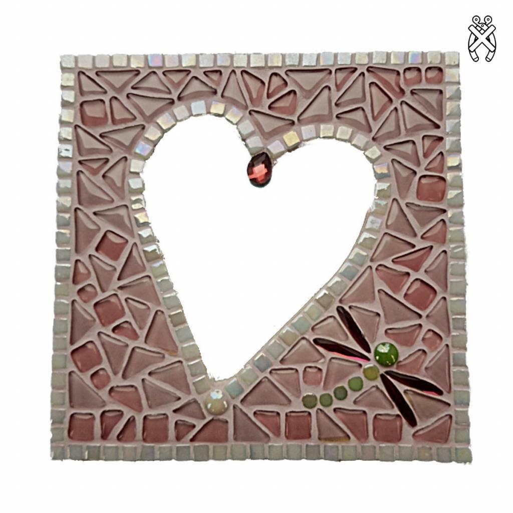 Mozaiek pakket Spiegel Glorio Hart Roze