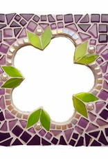 Mozaiek pakket Spiegel Glorio Bloem Paars