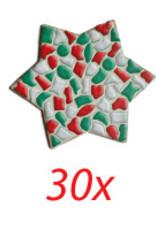 Ster 30 stuks mozaiekpakket KERST