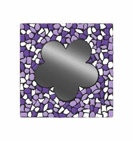 Cristallo Mozaiek pakket Spiegel Bloem Wit-Paars-Violet PREMIUM