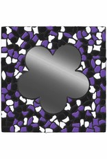 Spiegel Bloem Zwart-Wit-Paars Mozaiek pakket PREMIUM