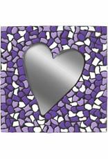 Cristallo Spiegel Hart Wit-Paars-Violet Mozaiek pakket PREMIUM