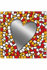 Cristallo Spiegel Hart Wit-Rood-Oranje Mozaiek pakket PREMIUM