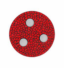 Mozaiek pakket Waxinelichthouder Uni Rood PREMIUM
