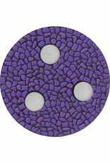 Cristallo Waxinelichthouder Uni Paars Mozaiek pakket PREMIUM