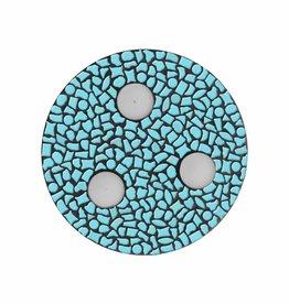 Cristallo Mozaiek pakket Waxinelichthouder Uni Lichtblauw PREMIUM