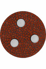 Cristallo Waxinelichthouder Uni Bruin Mozaiek pakket PREMIUM