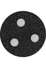 Cristallo Waxinelichthouder Uni Zwart Mozaiek pakket PREMIUM