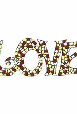 LOVE Wit-Bruin-Geel Mozaiek pakket PREMIUM