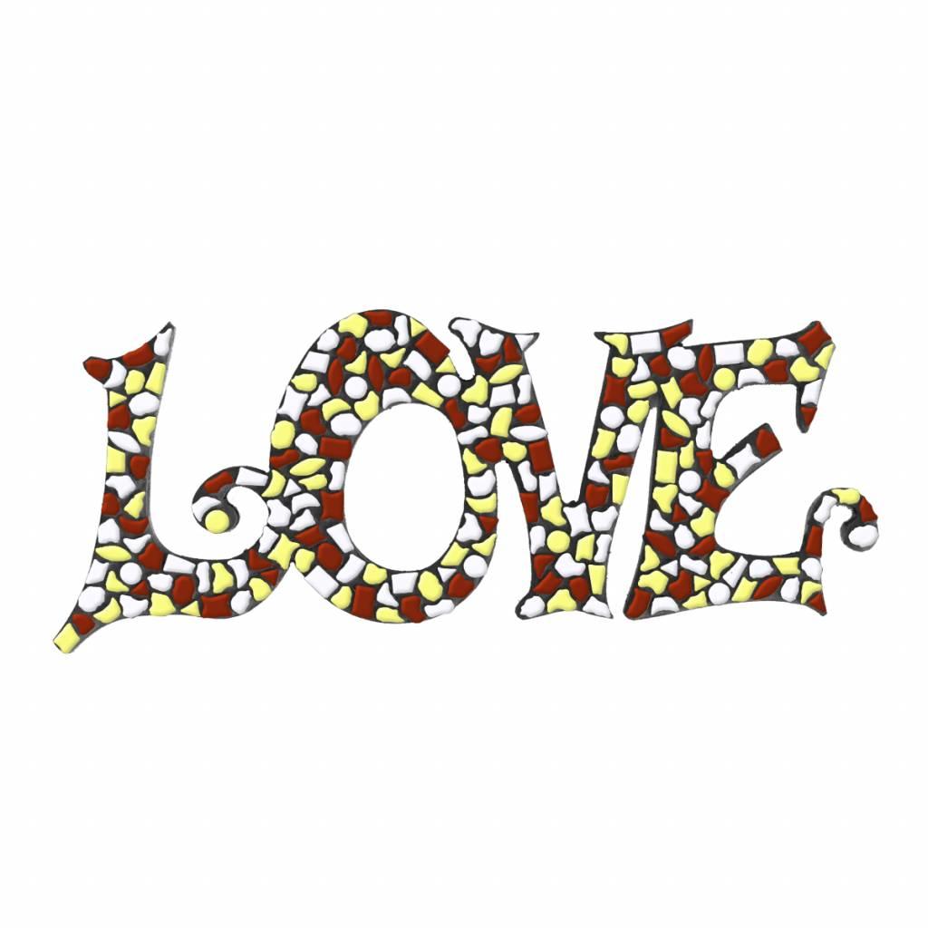 Cristallo LOVE Wit-Bruin-Geel Mozaiek pakket PREMIUM